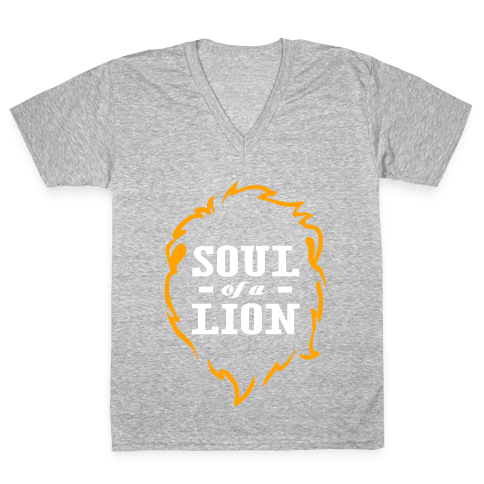Soul of a Lion V-Neck Tee Shirt