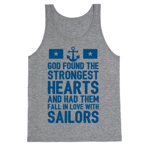 God Found The Strongest Hearts (Navy) Tank Top