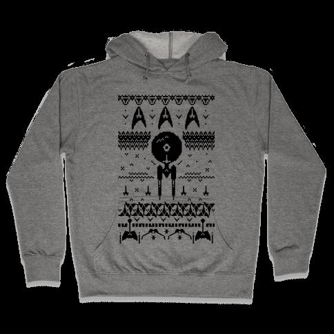 Captain's Ugly Sweater Hooded Sweatshirt