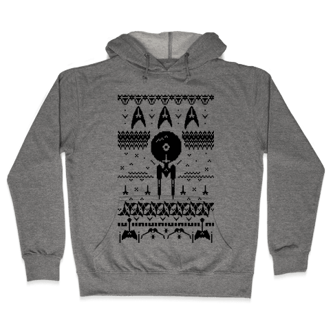 Captain's Ugly Sweater Hooded Sweatshirt