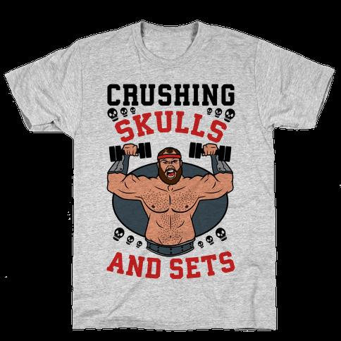 Crushing Skulls and Sets Mens T-Shirt