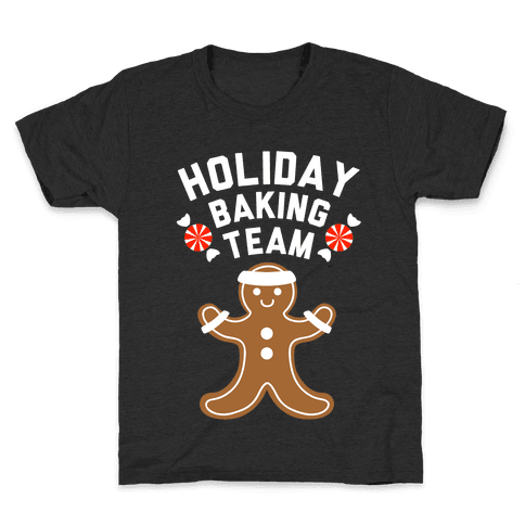 Holiday Baking Team (White Ink) Kids T-Shirt
