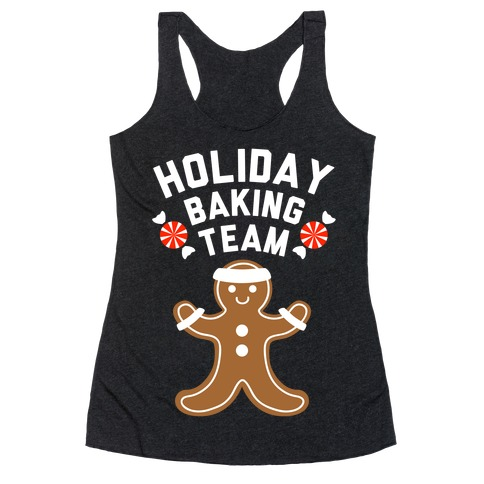 Holiday Baking Team (White Ink) Racerback Tank Top