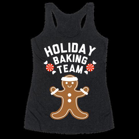 Holiday Baking Team (White Ink) Racerback Tank Top