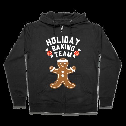 Holiday Baking Team (White Ink) Zip Hoodie