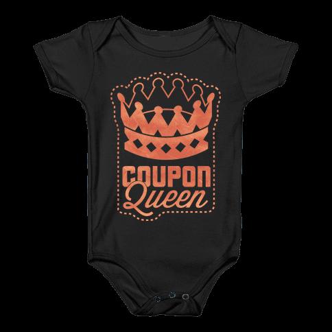 Queen of the Coupons (Dark) Baby Onesy