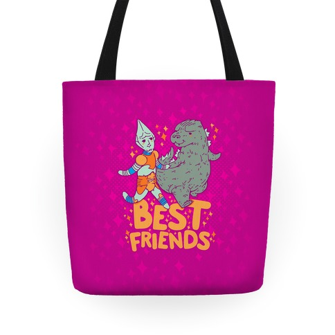 Best Friends Jet Jaguar & Godzilla Tote