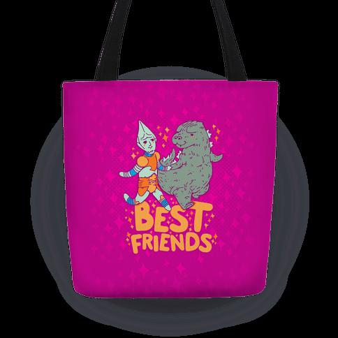 Best Friends Jet Jaguar & Godzilla Tote