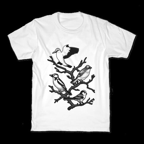 Woodland Birds Kids T-Shirt