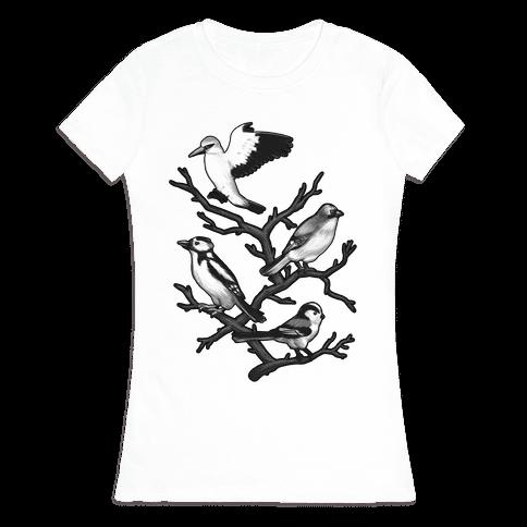 Woodland Birds Womens T-Shirt