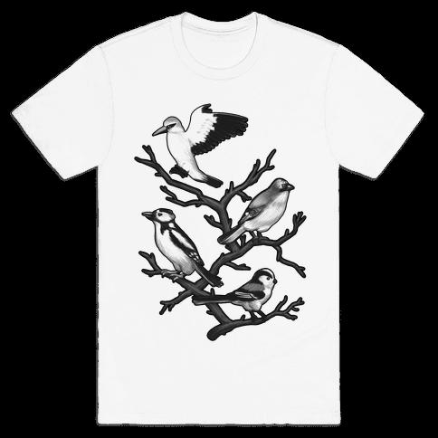 Woodland Birds Mens T-Shirt