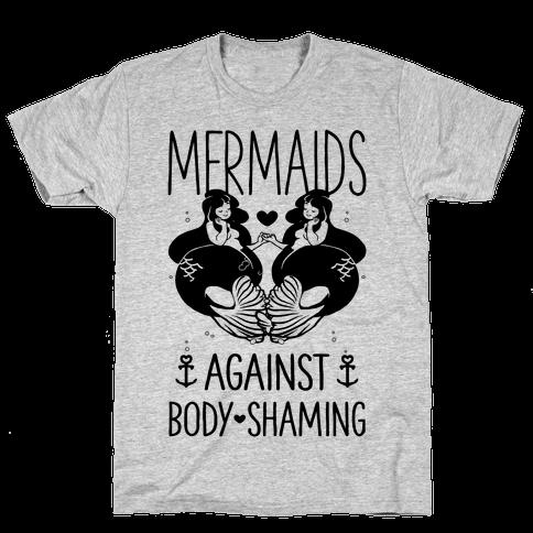 Mermaids Against Body Shaming Mens T-Shirt