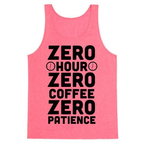 Zero Hour Tank Top