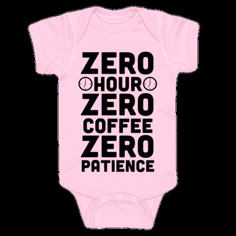 Zero Hour Baby Onesy