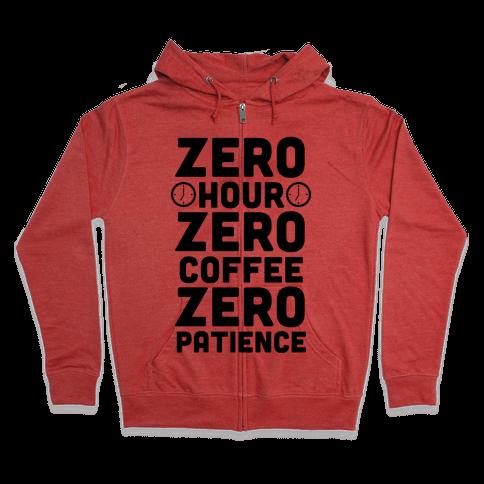 Zero Hour Zip Hoodie