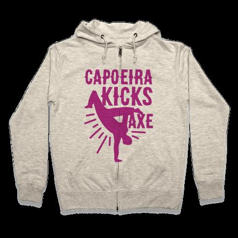Capoeira Kicks Axe Zip Hoodie