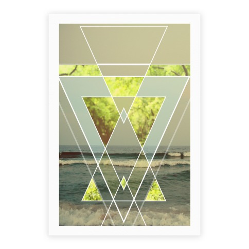 Trendy Geometric Outdoor Triangles Poster