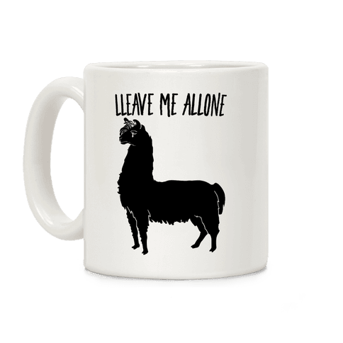 Leave Me Alone Llama Coffee Mug