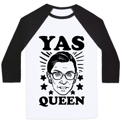 Yas Queen RBG Baseball Tee
