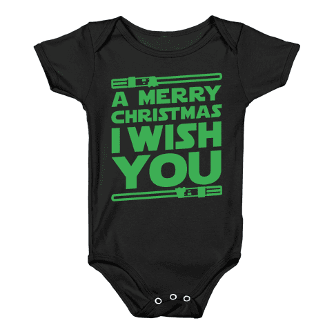 Merry Christmas I Wish You Baby Onesy