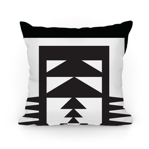 Black and White Aztec Pillow Pillow