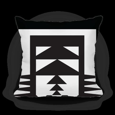 Black and White Aztec Pillow Pillow