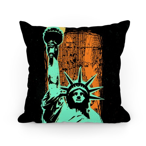 Liberty In The City Pillow