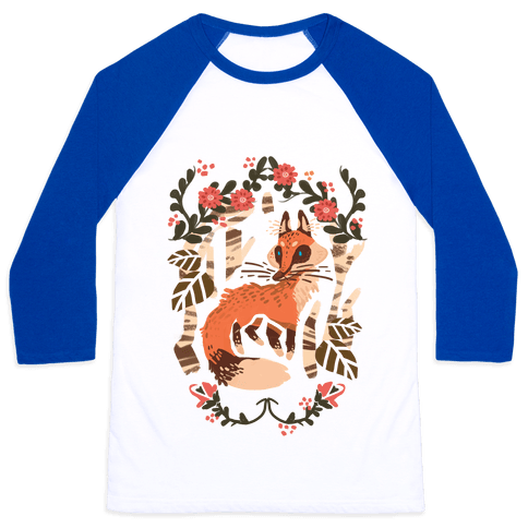 Fox In The Forest Baseball Tee