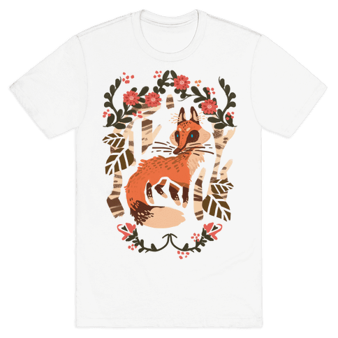 Fox In The Forest Mens T-Shirt