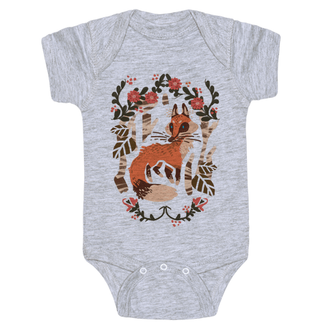 Fox In The Forest Baby Onesy