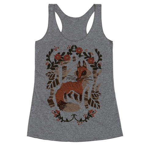 Fox In The Forest Racerback Tank Top