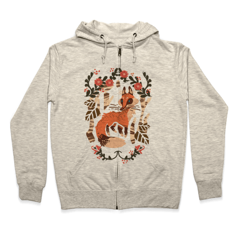 Fox In The Forest Zip Hoodie