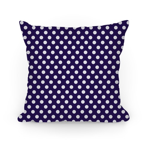 Navy Polka Dot Pattern Pillow