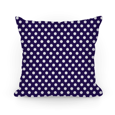 Navy Polka Dot Pattern