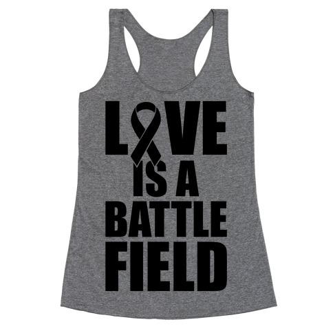 Love Is A Battlefield Racerback Tank Top