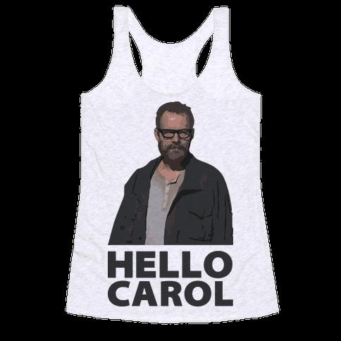 Hello Carol Racerback Tank Top