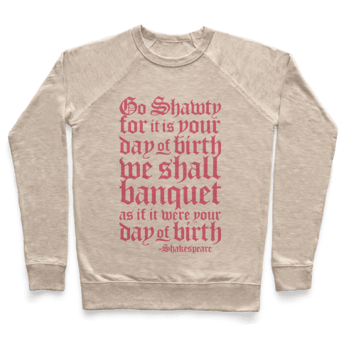Shakespeare Party Pullover