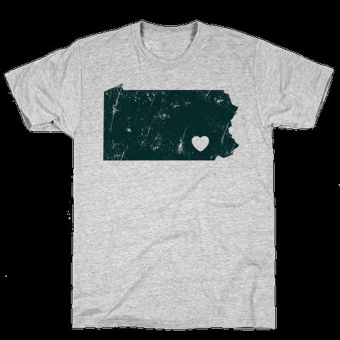 Pennsylvania Heart  Mens T-Shirt