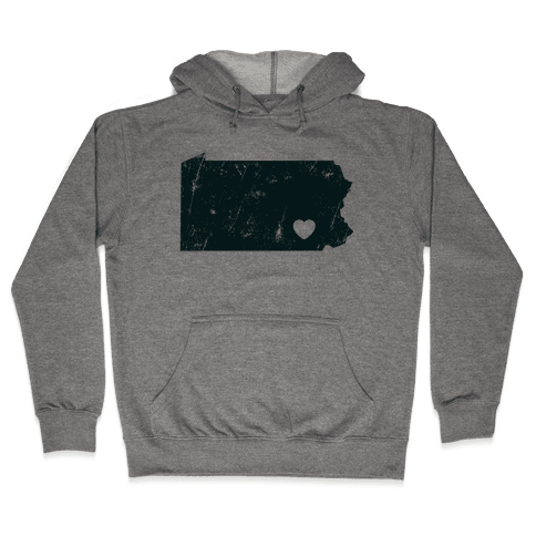 Pennsylvania Heart  Hooded Sweatshirt