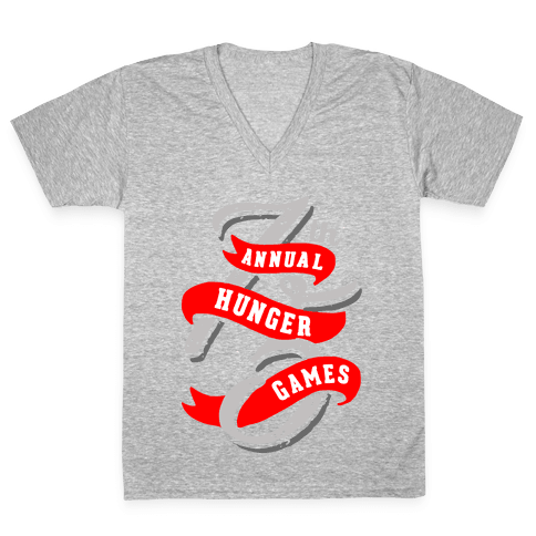 75th Annual Hunger Games V-Neck Tee Shirt