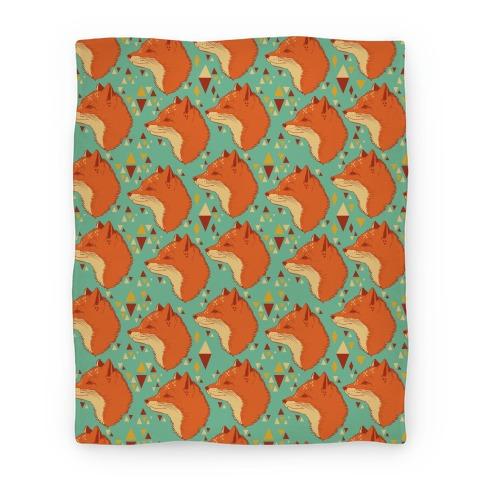 Spirit Fox Pattern Blanket
