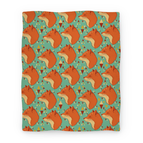 Spirit Fox Pattern Blanket