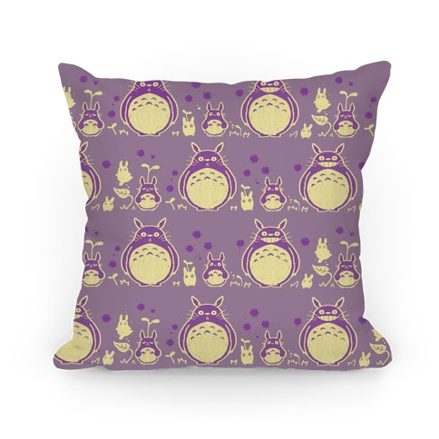 Totoro Pattern Pillow