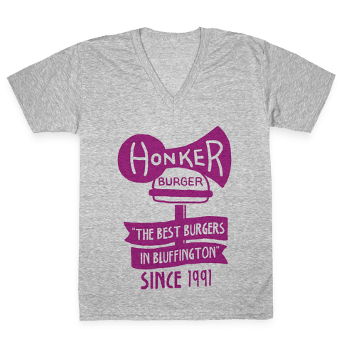 The Honker Burger Tee V-Neck Tee Shirt