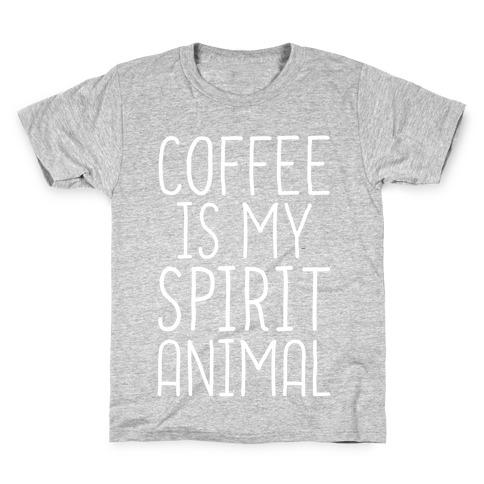 Coffee Is My Spirit Animal Kids T-Shirt