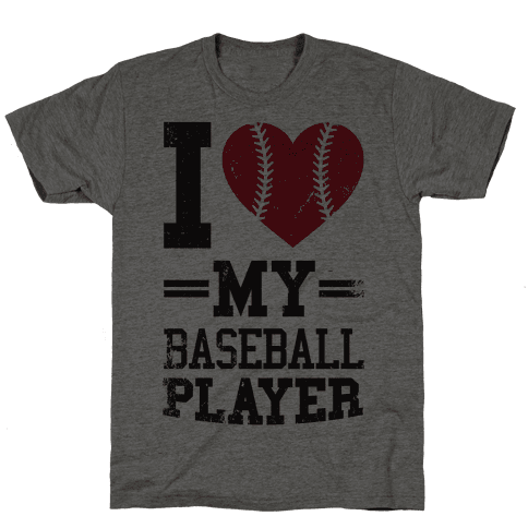 I Love My Baseball Player Mens T-Shirt