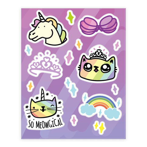 Rainbow Fantasy  Sticker/Decal Sheet