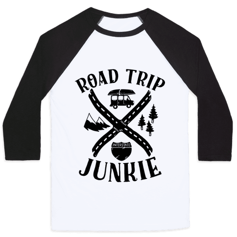 Road Trip Junkie Baseball Tee