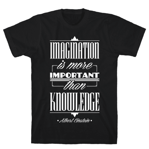 """Imagination"" Albert Einstein Mens T-Shirt"