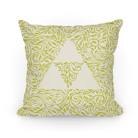 Subtle Triforce Pattern Pillow